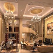 精致豪华的客厅