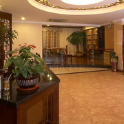 中式饭店前台装潢