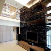 客厅黑色时尚背景墙