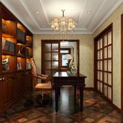 书房白色石膏线吊顶