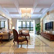精巧的客厅瓷砖背景墙