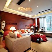 别墅客厅沙发背景墙