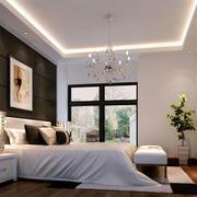 白色简约的卧室吊顶