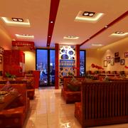 饭店红色时尚桌椅
