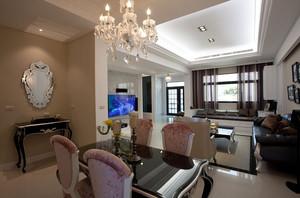 气氛怡人的简欧风格别墅客厅电视背景墙装修图片