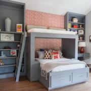 小户型儿童房双层床