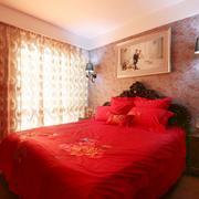 现代婚房卧室展示