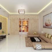 客厅沙发帆船装饰画
