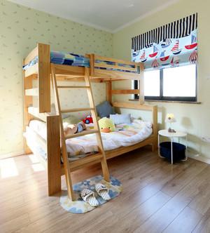 儿童房实木高低床