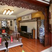 简单的中式背景墙