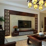 新中式款式背景墙