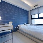 卧室蓝色背景墙