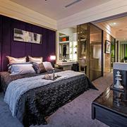 卧室紫色背景墙展示