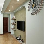 简洁的客厅电视墙