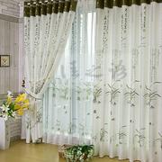 绿色飘逸的窗帘