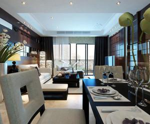 120平米内敛奢华的简欧风格客厅装修效果图