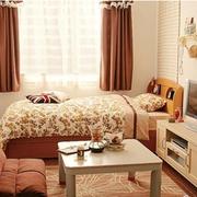 巧克力色的小户型卧室