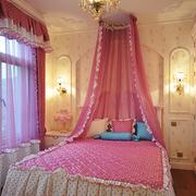 儿童房气质粉色床幔
