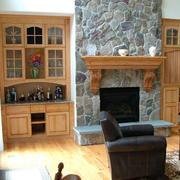 美式风格客厅壁柜