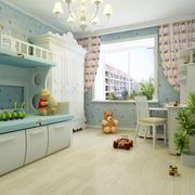 天蓝色的儿童房