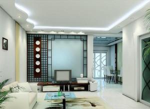 中式风格的客厅电视墙