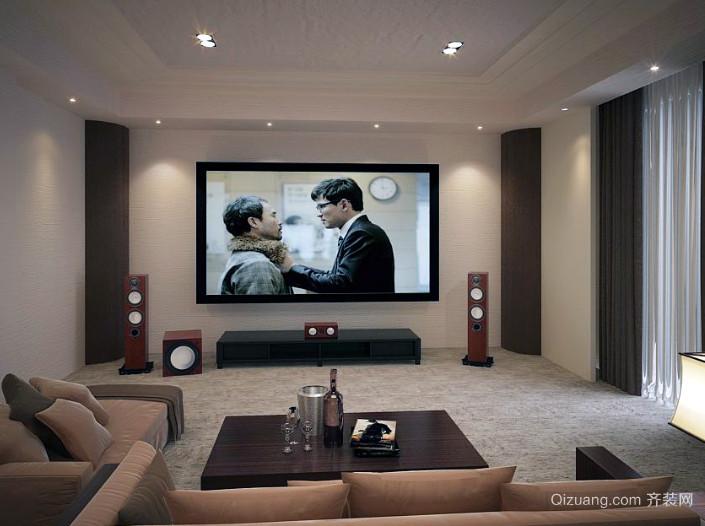 具有浪漫情怀的小型家庭影院装修效果图