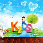 儿童房颜色鲜艳彩绘