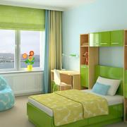绿色的卧室置物柜
