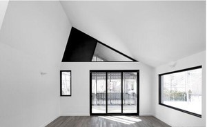 现代灰色如阴的阁楼装修效果图