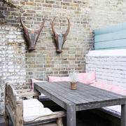 露台实木餐桌椅