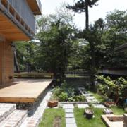 温馨的别墅花园