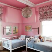 儿童房粉色壁纸