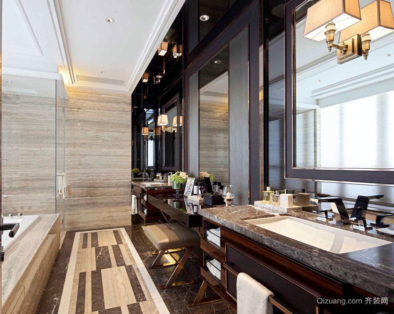 2015有贵族情调的大户型浴室装修效果图大全