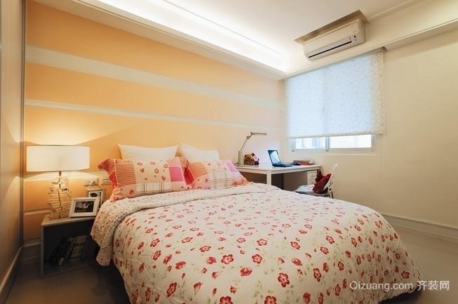 黄色优雅的卧室装修效果图
