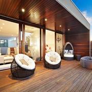 木屋别墅惬意露台