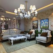 美式混搭的客厅