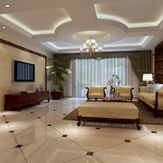 现代美式混搭客厅