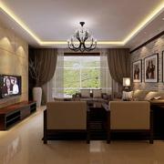 温馨的客厅背景墙