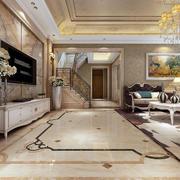 客厅地板瓷砖图案