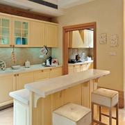一字型厨房吧台欣赏