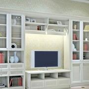 白色时尚客厅壁柜