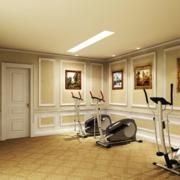简欧风格的健身房