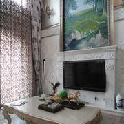 客厅山水画背景墙
