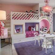 小户型紫色时尚儿童房