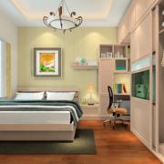 公寓卧室自然木舒适地板
