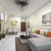 客厅转角沙发装饰画
