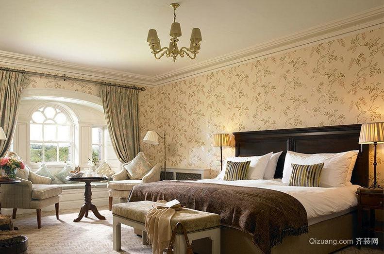 30平米温馨浪漫欧式卧室装修效果图