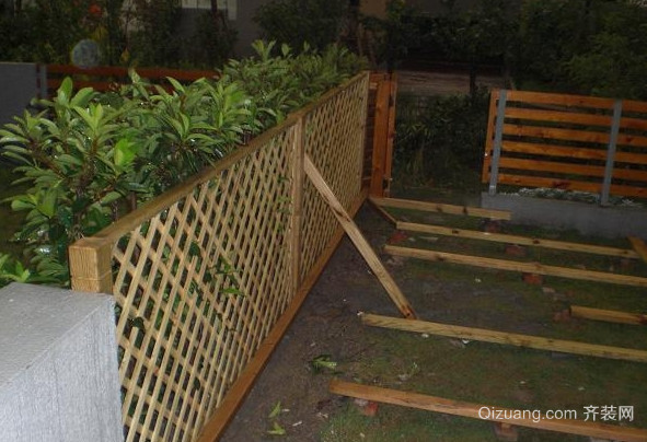 乡村农房围墙栏杆设计装修效果图