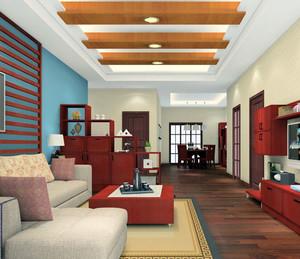 极具中式韵味的小户型客厅装修设计效果图
