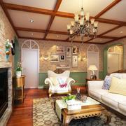 美式客厅吊顶欣赏